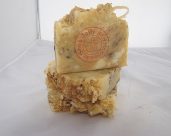 All Natural French Milled Goat Milk Soap scented in Applejack Peel.  Handmade soap for Fall.  Makes you crave Apple Pie.