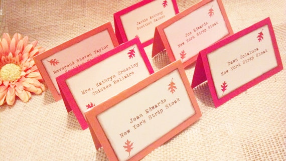 Items similar to fall wedding escort cards place cards tented table