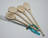 LIMITED QUANTITIES  Tiny Tot's Perfect Kitchen Utensil Set for play kitchen all natural toy