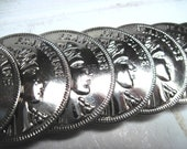 Silver coin belt French stretch continuous