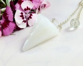 Snow Quartz  Pendulum - Small Size, Faceted,  Pagan, Divination, Wiccan