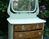 Antique Victorian Oak Dresser