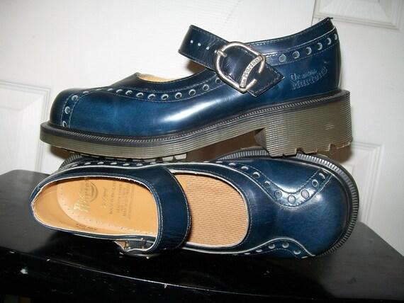 NWOB Vintage Navy Blue Dr. Martens Mary Jane Shoes UK 5