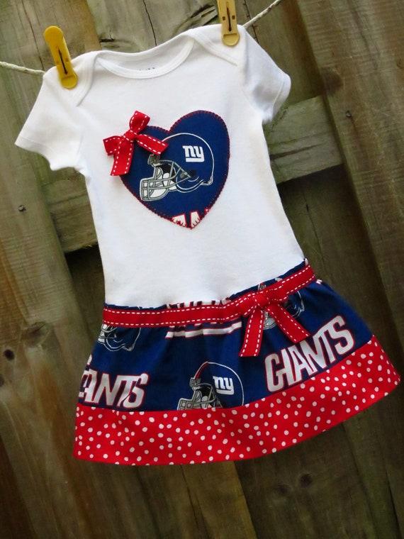 New York Giants inspired cheerleader dress
