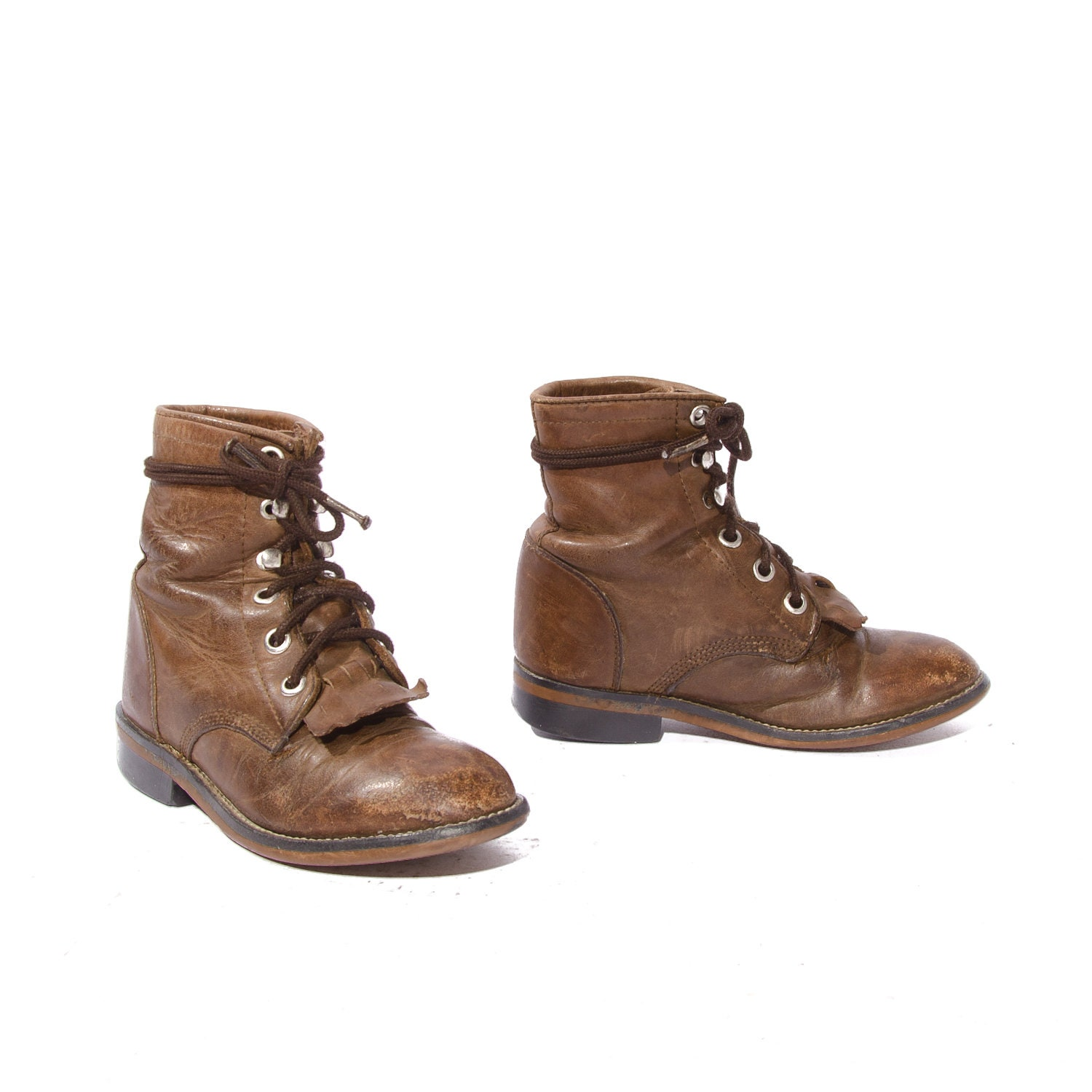 baby justin ropers brown lace up boots toddler by