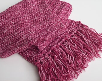 Scarf for Women, Crochet Scarf with Tassels, Winter Scarf for Ladies