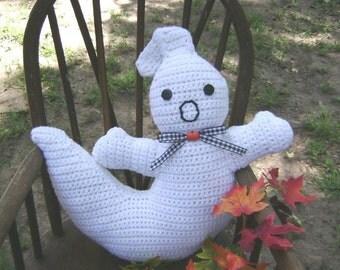 Crochet Halloween Ghost Pillow Centerpiece Fall Decoration Country Decoration Shelf Sitter Accent