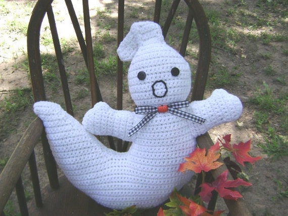Crochet Halloween Ghost Pillow Centerpiece Fall Decoration Country Decoration Shelf Sitter Accent