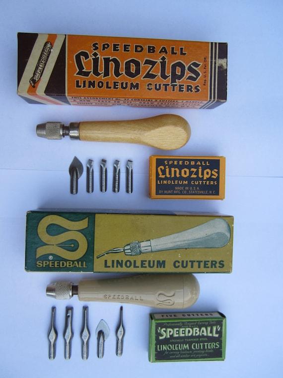 SALE Vintage Speedball Linoleum Cutters Handles Boxes VALUE ADDED