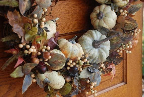 SaLe...was 55.00, now 49.00, Harvest Wreath, Fall Wreath, Autumn Wreath,Front Door Decoration, Thanksgiving Wreath, Fall Wreaths for Door