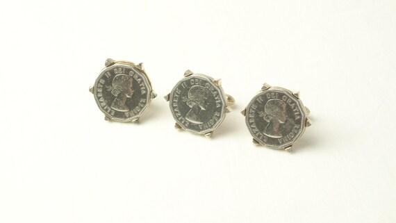 Vintage Elizabeth II DEI Gratia Regina Coin Swank Cuff Links Tie Clasp Set on Etsy