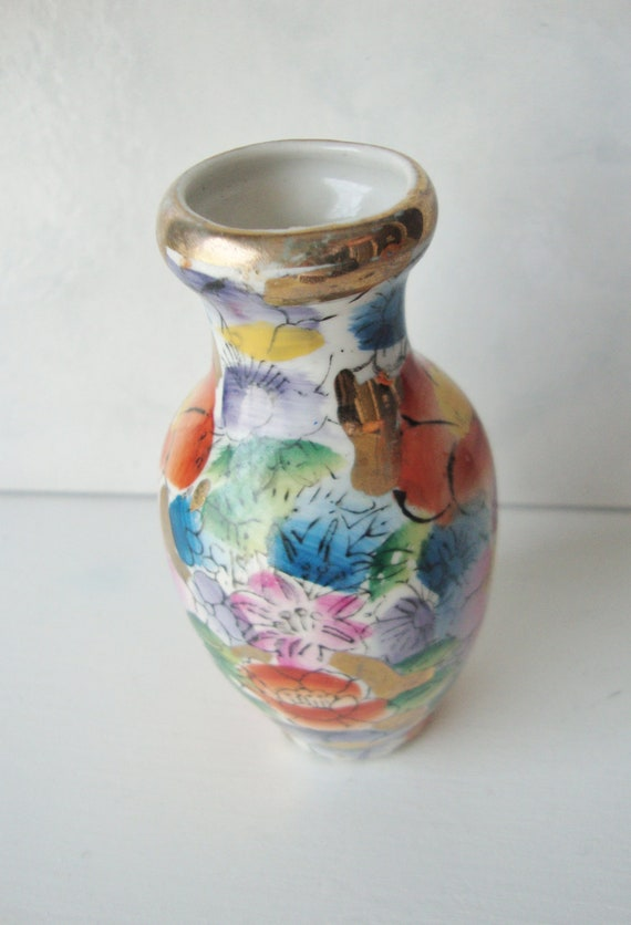 Vintage Bud Vase Hand Painted Made in China