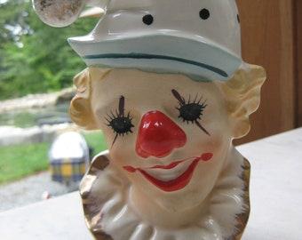 Vintage Clown Head Vase