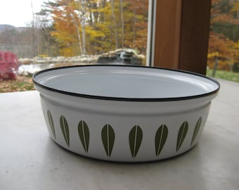 Vintage LARGE Cathrineholm Avocado Lotus Pot