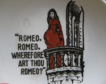 Vintage Romeo and Juliet Dish