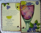 Blueberry Cocktail wooden book