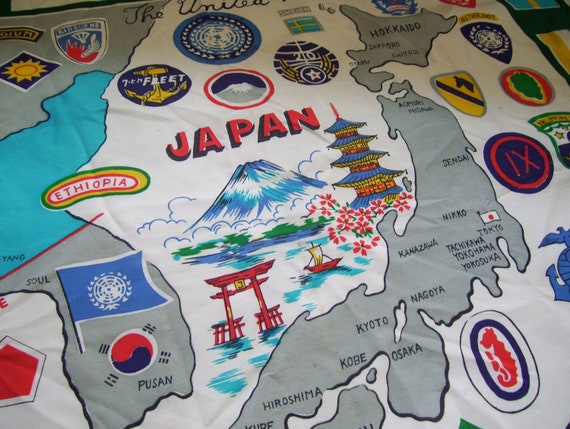 United Nations Scarf Flags Map of Japan