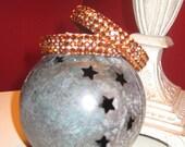 Swarovski Crystal Copper Bangle Bracelets