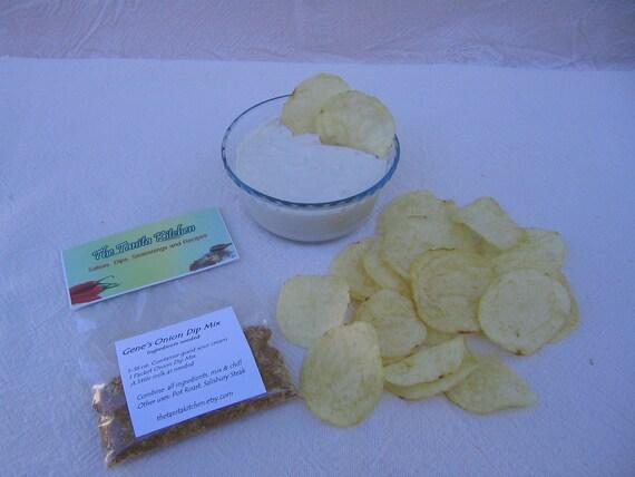 Onion Dip Seasoning Mix, Gene's Onion Dip Mix, hand blended onion dip, summer onion dip mix