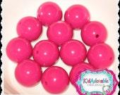 10 pieces 22 mm FESTIVE PINK Bubble Gum Acrylic Beads