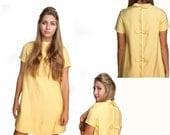 1960s Dress Mod Yellow Twiggy Dress