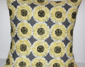 Gray and Yellow Modern 2 -18 inch Designer Handmade Pillow Covers