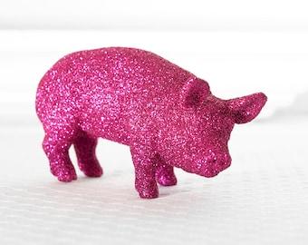 Hot Pink Pig Wedding Table Decoration Farm House Glitter Tablescape Centerpiece for Weddings, Birthdays, Nursery Decor or Showers