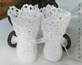 Newborn Vintage inspired Victorian booties