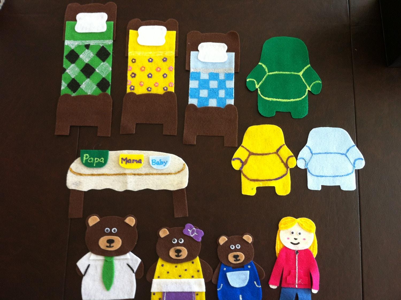 Goldilocks And The Three Bears Felt Story