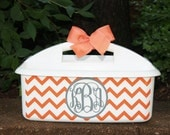 Personalized Chevron Shower Caddy - - - Must-Haves for Camp, Dorm Room & Sorority House - - - Assorted Colors/Designs
