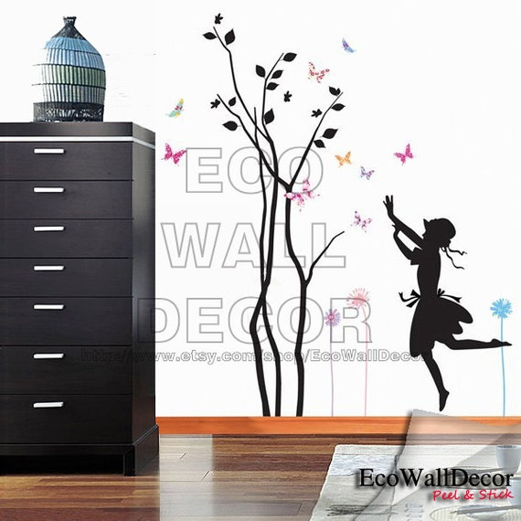 Peel and stick removable vinyl wall sticker mural decal art for Vinyl peel and stick wallpaper