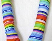 Arm Warmers Bright Striped Gorgeous Item Tactile Feel Lolita Girly Fun Boho Hippie