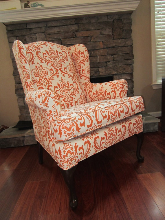 Items Similar To Accent Chair Orange Pekoe On Etsy