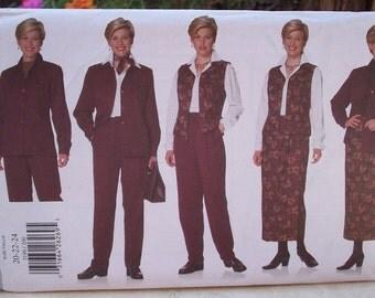 Butterick 5199 J.G. Hook Pattern Jacket, Pants, Skirt and Vest Pattern Dated 1997 Plus Size 20, 22, 24