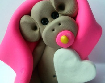 Polymer clay, Christmas Ornament,Christmas monkey ornament baby's first Christmas, keepsake 2017