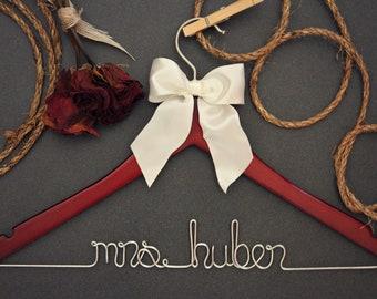 Wedding Hanger for bride or bridesmaid - Gift for Mother of Bride - Gift for Mother of Groom - Gift for Bride's Mom - Gift Bride's Sister