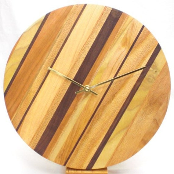 Wood Wall Clock - Featuring American Woods