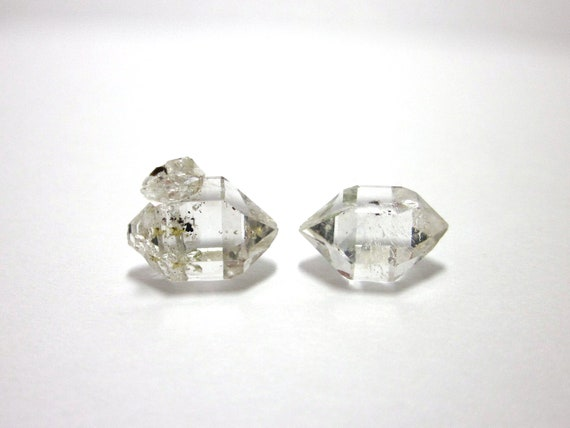 Herkimer Diamonds Genuine NY 2 Crystals 13mm (Lot No. 1099) Upstate New York