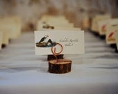 RESERVED AMIE MONSON - Woodland/Rustic Wedding or Outdoor Party Place Card or Table Number Holders - Cedar Branch & Recycled Copper
