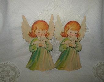 Vintage Dennison Christmas Angels Cardboard