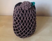 Mink Vintage Crochet Hair Snood