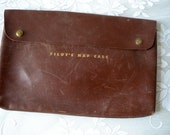 Genuine Leather Hinson Mfg. Co Pilot's Map Case