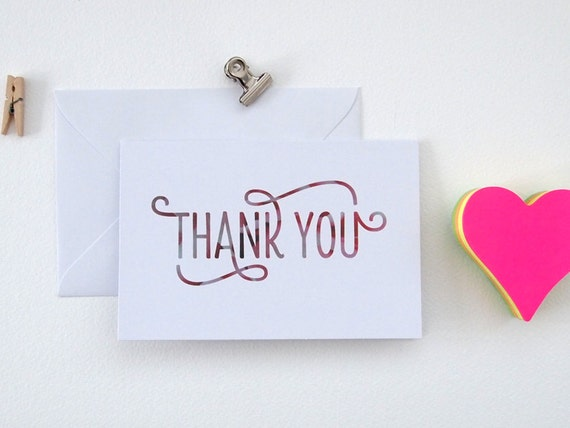 Floral Thank You Cards, A6, Set of 5