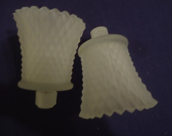 White Frosted Votive Candle Holders
