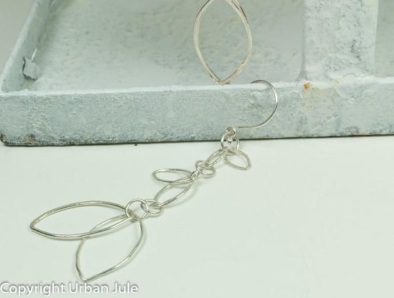 Dangle Earrings - Fine Silver Dangle Earrings - Leaf Dangle Earrings