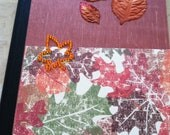 Embellished, Upcycled, Lovely Composition Blank Book or Journal
