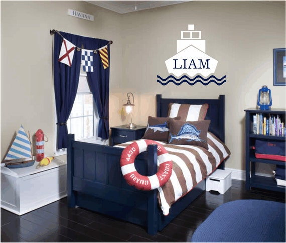 nautical themed bedroom items similar to nautical vinyl wall decal personalized 12681