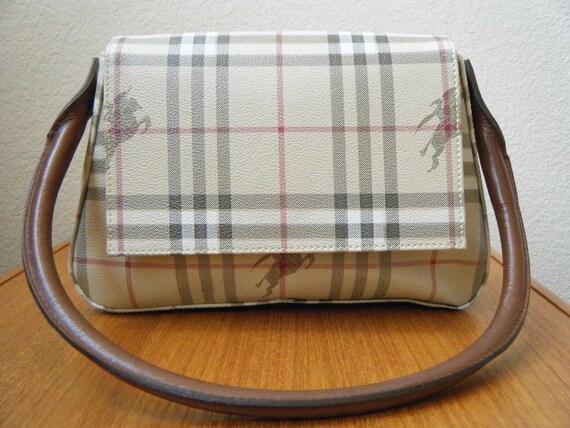 Vintage Classic Check Burberry / Burberry's of London Handbag, 1980s