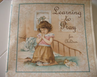 cloth storybook panel to make-Learning to Pray