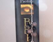 Tibetan Silver Dragon Bookmark with Black Agate and Purple Aventurine